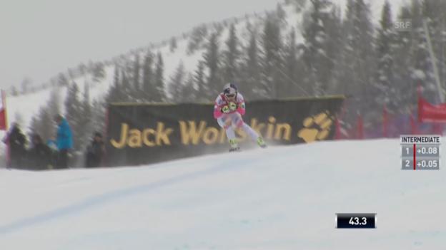 Video «Ski Alpin: Weltcup-Abfahrt Lake Louise, Fahrt von Lindsey Vonn» abspielen