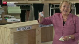 Video «Michelle Bachelet als Favoritin bei Wahlen in Chile» abspielen