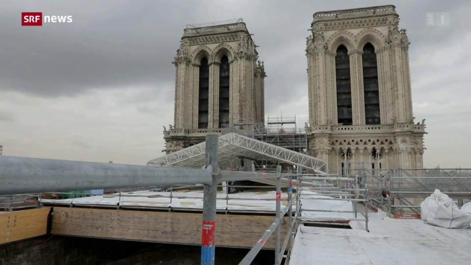 Aus dem Archiv: Sicherungsarbeiten in der Notre-Dame in Paris