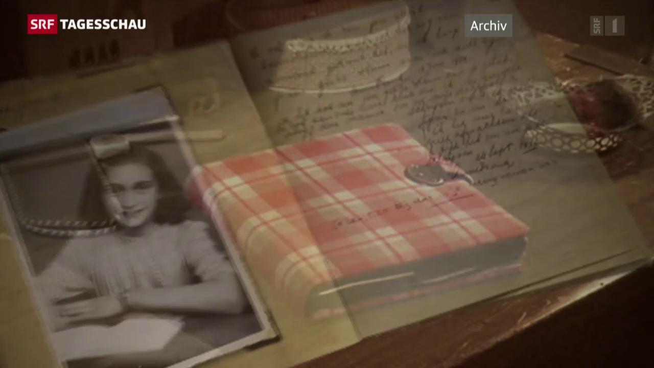 «Tagebuch der Anne Frank» im Internet zugänglich