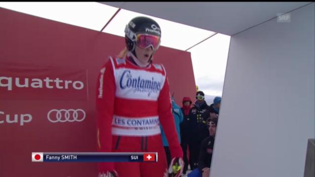 Video «Skicross: Fanny Smith wird in Les Contamine Dritte» abspielen