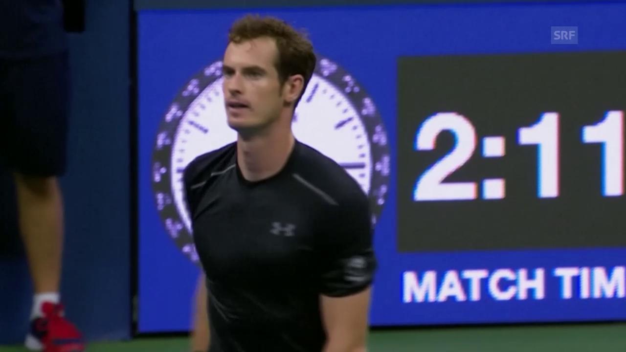 Tennis: US Open 2015, 3. Runde, Murray - Bellucci