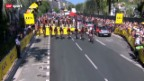Video «Rad: 4. Etappe der Tour de France, Mannschaftszeitfahren in Nizza» abspielen