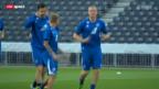 Video «Fussball: Island vor dem Spiel in Bern» abspielen