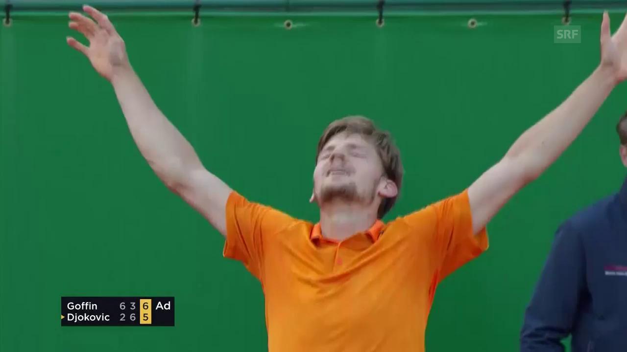 Djokovic scheitert im Viertelfinal an Goffin