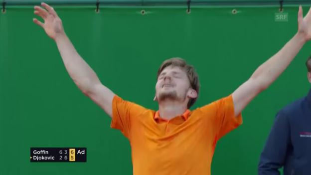 Video «Djokovic scheitert im Viertelfinal an Goffin» abspielen