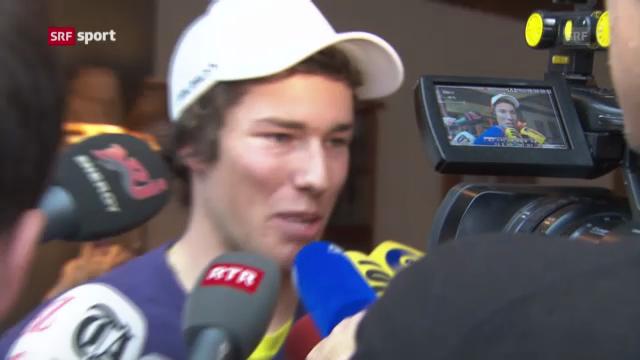 Ski alpin: Elia Zurbriggen vor dem Rennen in Adelboden