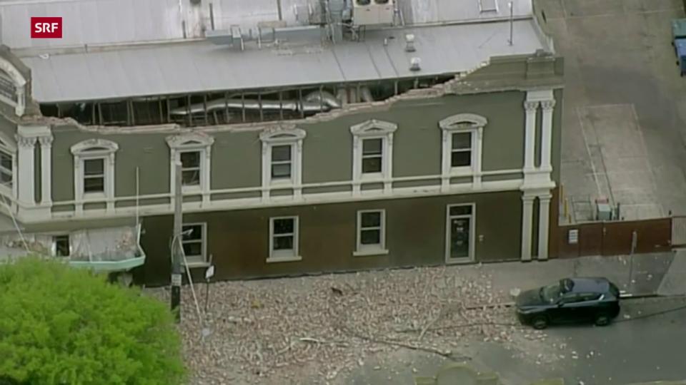 In Melbourne wurden mehrere Häuser beschädigt