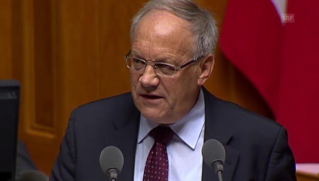 Video «Bundesrat Schneider-Ammann gegen Volksentscheid» abspielen