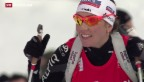 Video «15. Platz für Biathletin Gasparin» abspielen