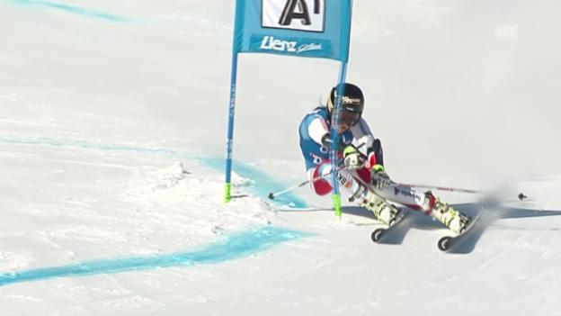 Video «Ski, Weltcup Lienz, Riesenslalom Frauen, 1. Lauf Gut» abspielen