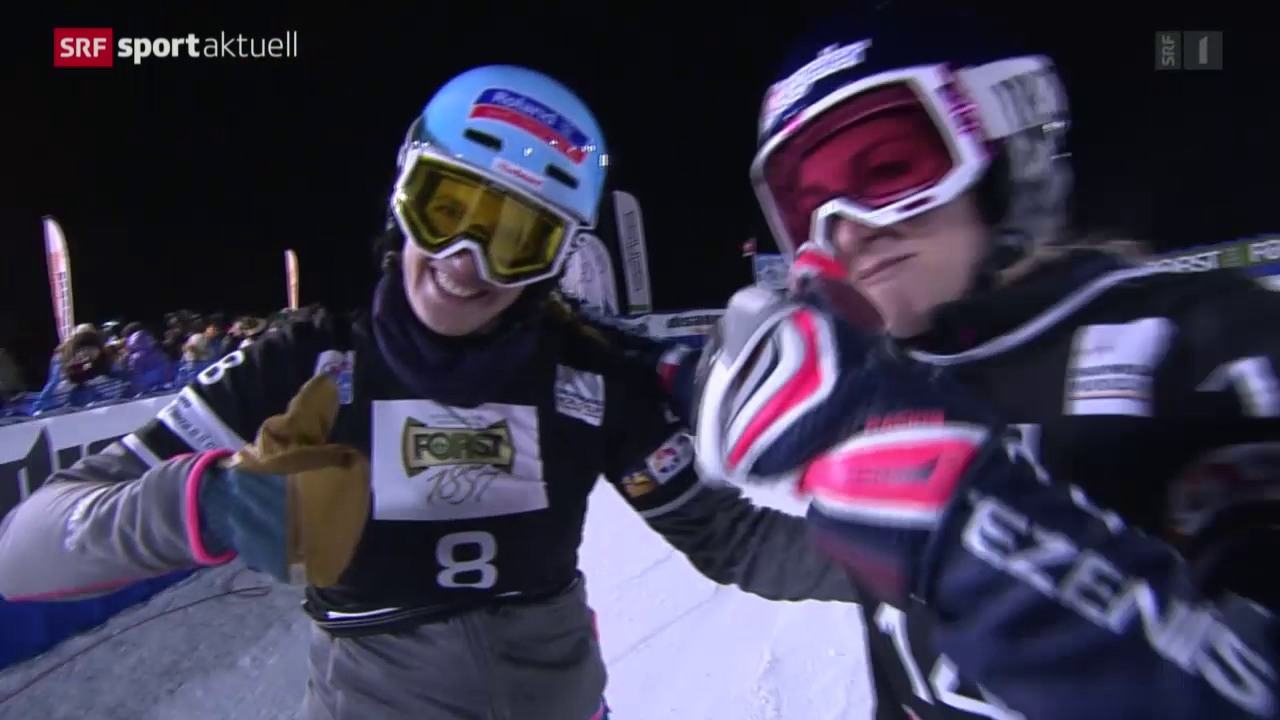 Snowboard: Parallelslalom in Cortina d'Ampezzo