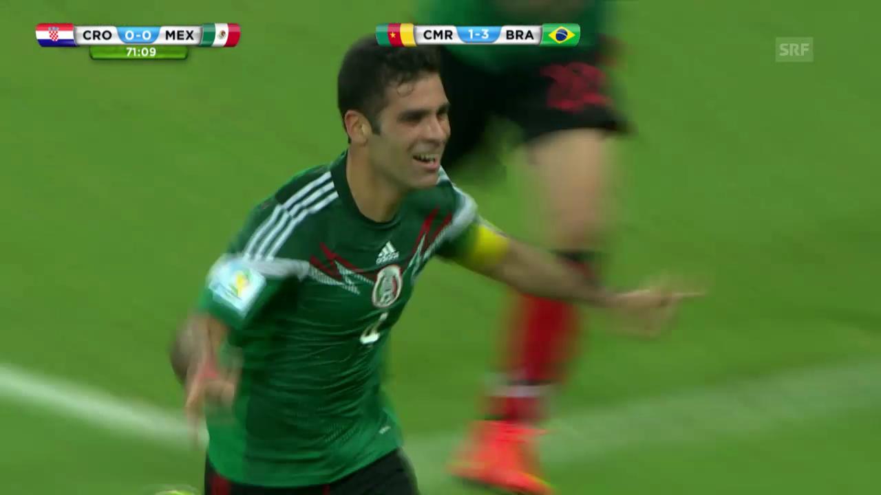 Fussball - WM 2014: Das Tor und die Vorlage von Rafael Marquez gegen Kroatien