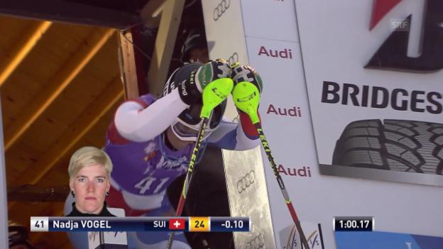 Video «Ski: Der 2. Lauf von Nadja Vogel in Levi» abspielen