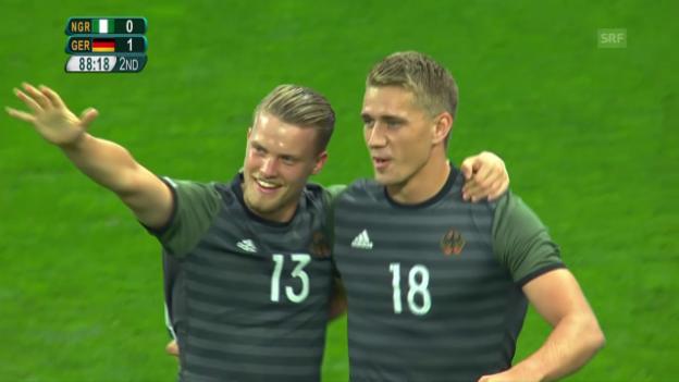 Video «Deutschland folgt Brasilien in den Final» abspielen