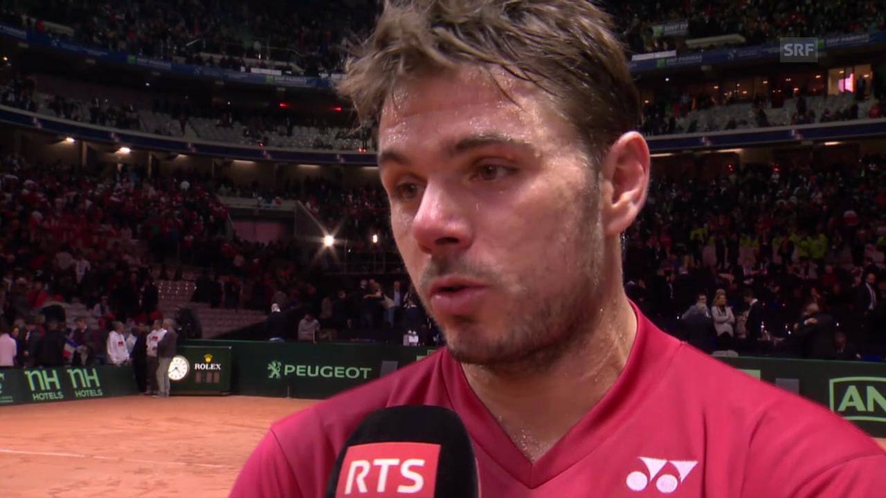 Tennis: Davis Cup, Stan im Interview