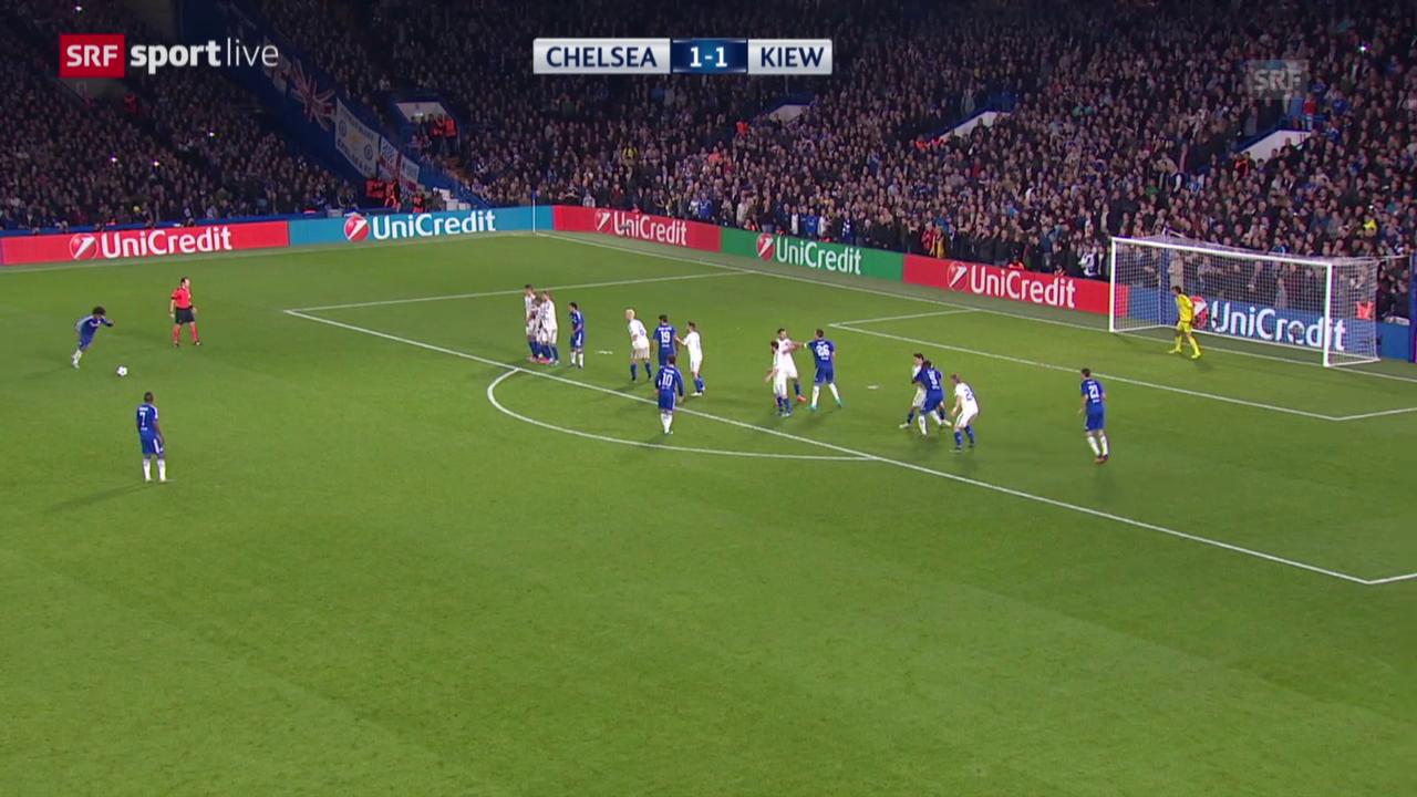 Fussball: Champions League, Zusammenfassung Chelsea - Dynamo Kiew