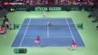 Video «Schweizer unterliegen im Doppel» abspielen