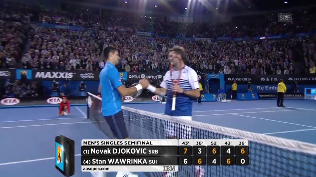 Tennis: Halbfinal Australian Open, Live-Highlights Stan Wawrinka - Novak Djokovic