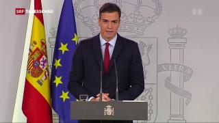 Video «Spanien ist bereit den Brexit-Vertrag zu unterzeichnen» abspielen
