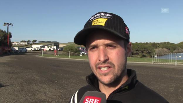 Video «Motorrad: Interview mit Tom Lüthi nach dem Qualifying des GP Australien» abspielen