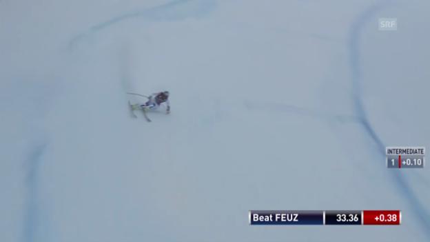 Video «Die Fahrt von Beat Feuz («sportlive»)» abspielen