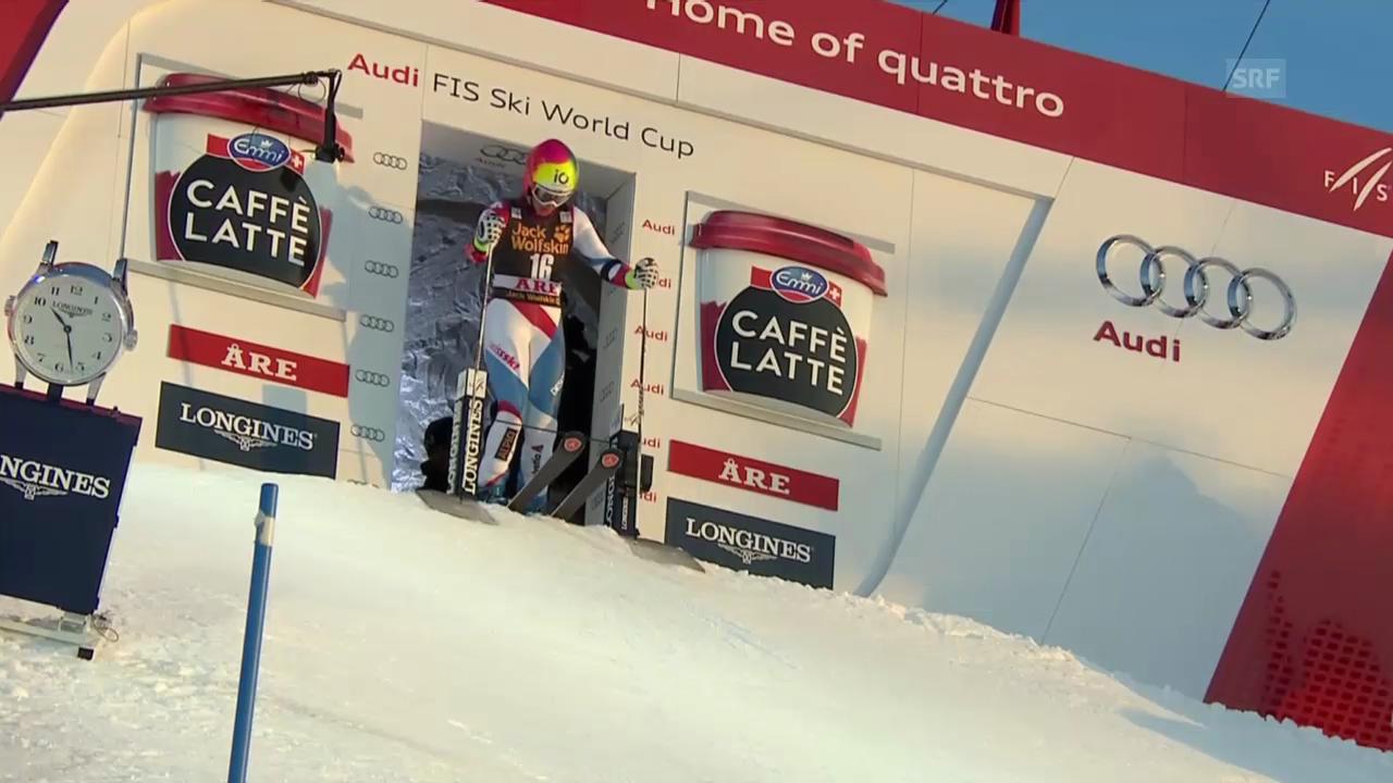Ski Alpin: 1. Lauf von Dominique Gisin