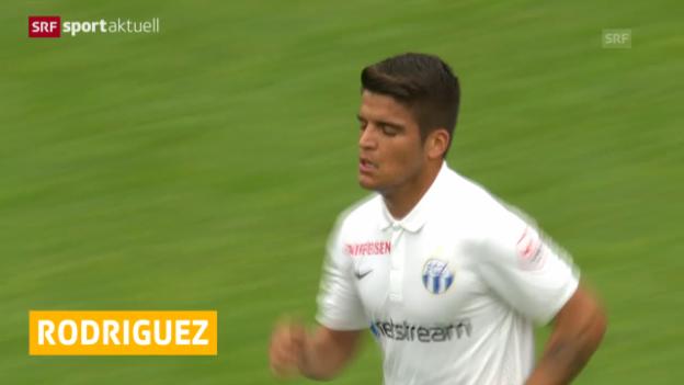 Video «Fussball: F.Rodriguez vom FCZ zu Wolfsburg («sportaktuell»)» abspielen