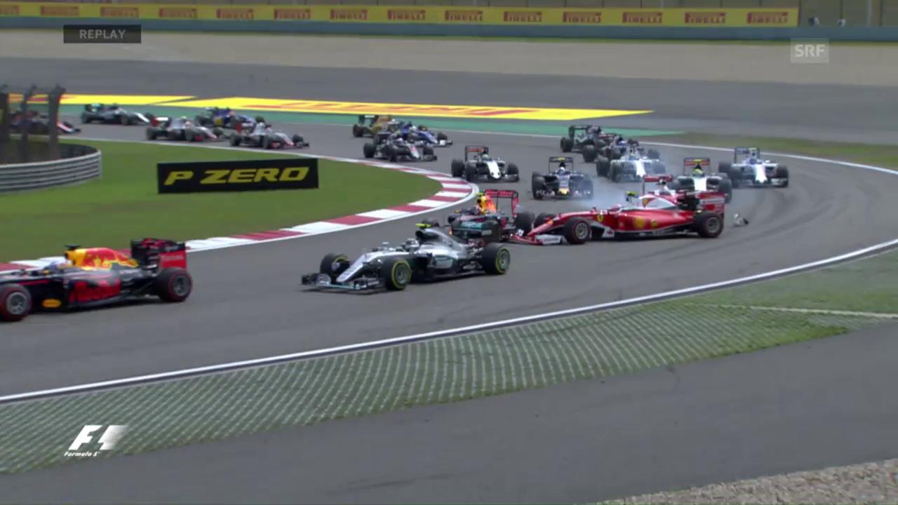 Der Start des F1-Rennens in China