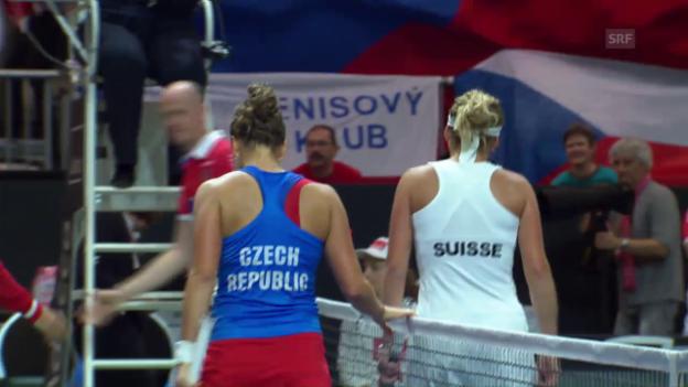 Video «Die Live-Highlights von Bacsinszky - Strycova» abspielen