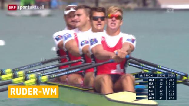 Video «Rudern: Doppelvierer löst Olympiaticket» abspielen