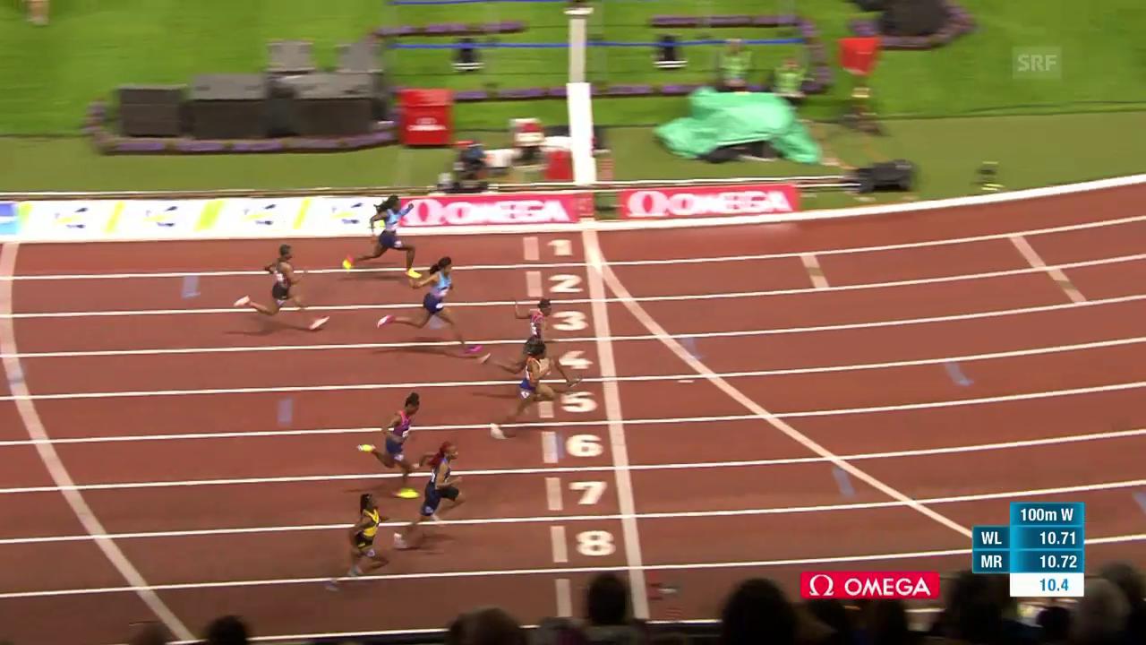 100 m F: Thompson hauchdünn vor Ta Lou