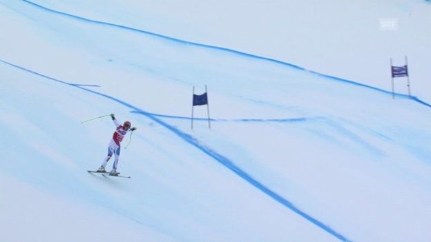 Video «Ski: Küngs Ausfall in Gröden («sportlive» vom 20.12.13)» abspielen