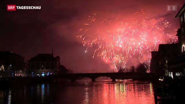 Weltweite Neujahrsfeiern