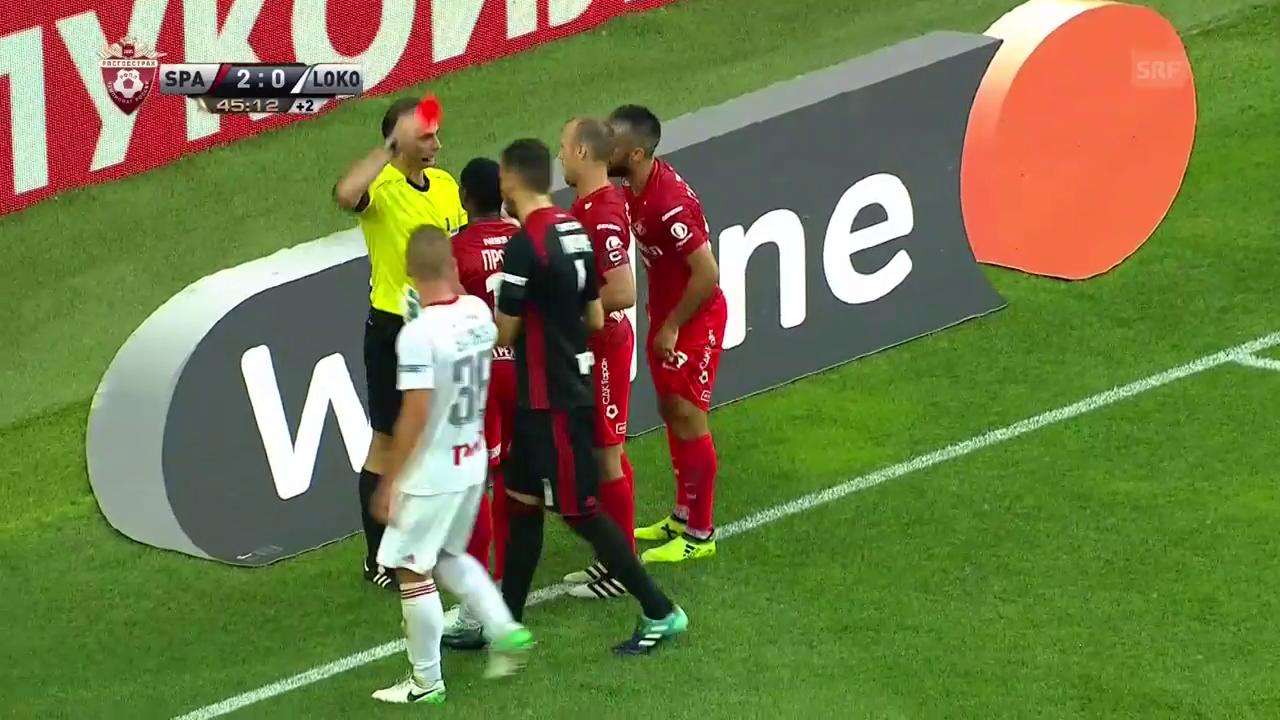 Spartak-Lok: 4 Gegentore nach roter Karte
