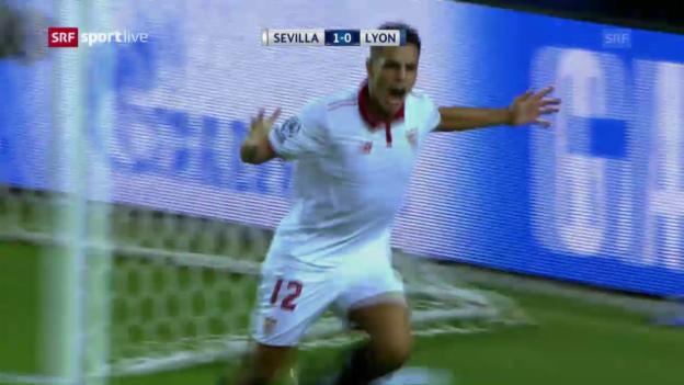 Video «Sevilla setzt sich gegen Lyon durch» abspielen