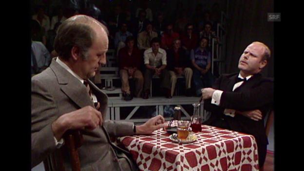 Video ««Politiker», Ausschnitt aus: «Der Robbenkönig», 19.5.1976» abspielen
