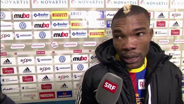 Video «Fussball: Basel-Sion, Interview mit Geoffroy Serey Die» abspielen
