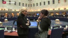 Video «Innenminister beraten über Flüchtlingskrise» abspielen