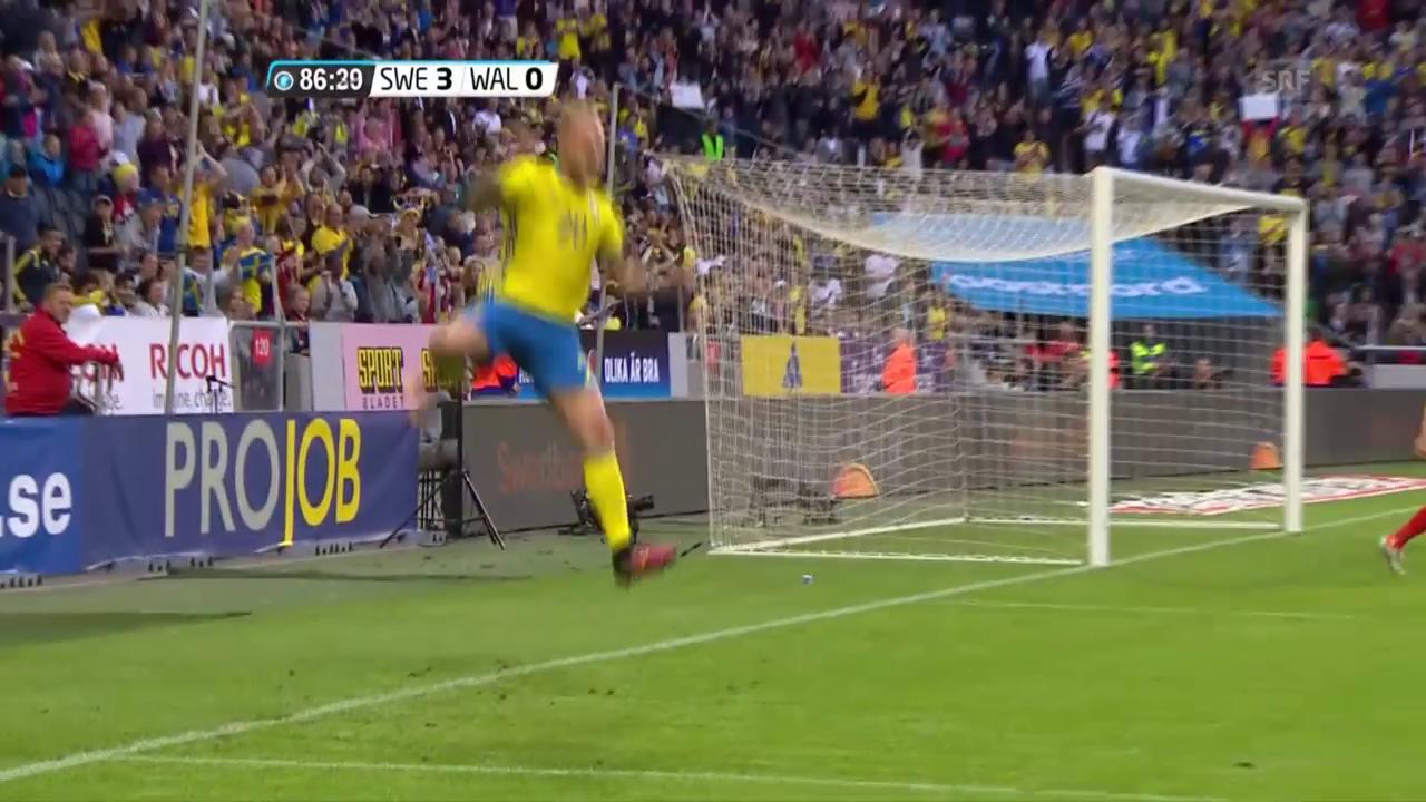 Highlights Schweden - Wales (SNTV)