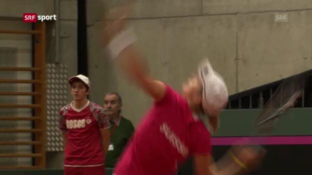 Video «Fed Cup Schweiz - Belgien, 1. Tag» abspielen