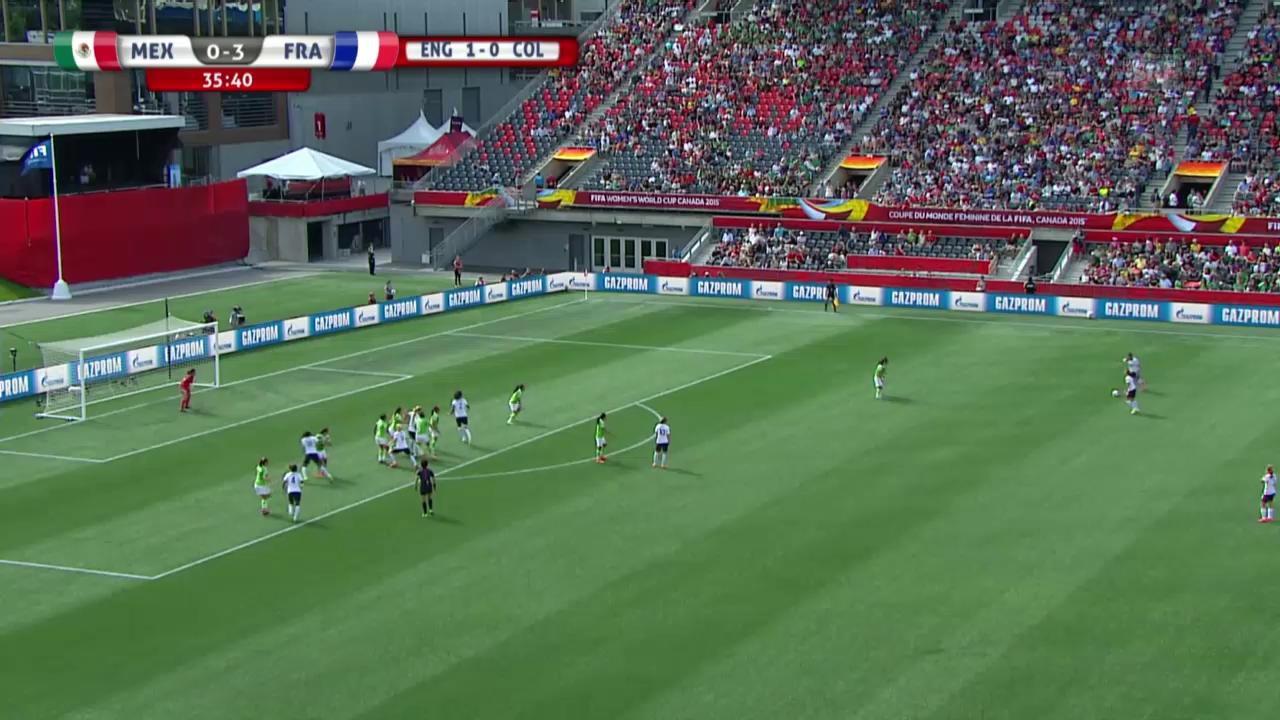 Fussball: Frauen-WM in Kanada, das 4. Tor von Frankreich gegen Mexiko