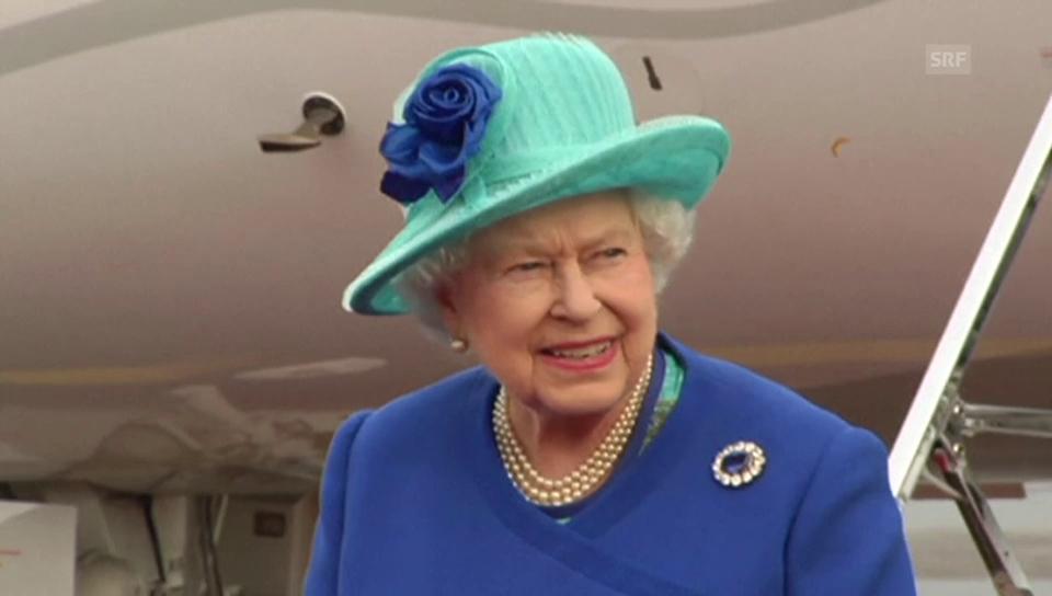 Ankunft der Queen in Deutschland (unkommentiert)
