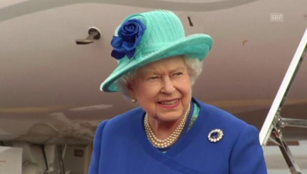 Video «Ankunft der Queen in Deutschland (unkommentiert)» abspielen
