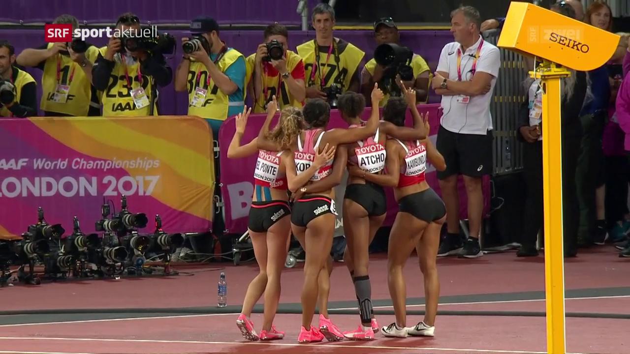 Die Schweizer Frauen-Staffel sprintet auf Rang 5