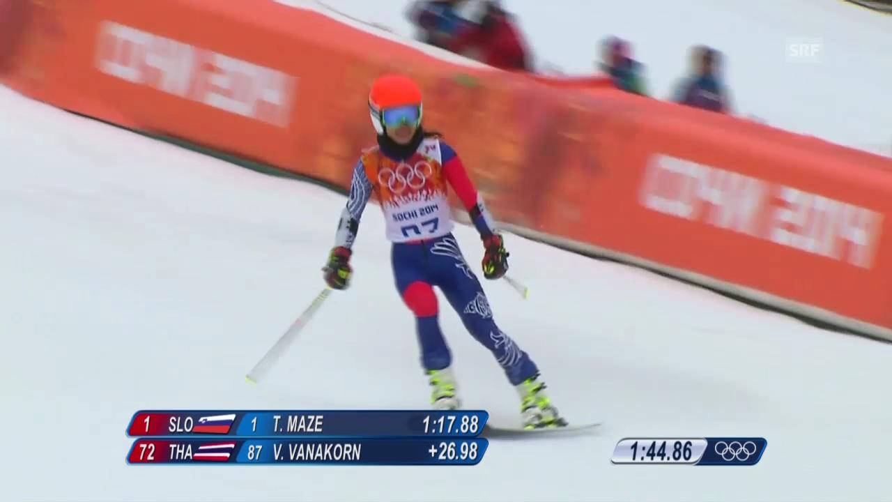 Ski: Riesenslalom Frauen Sotschi, 1. Lauf Vanessa-Mae (sotschi direkt, 18.2.14)