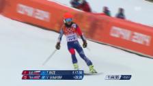 Video «Ski: Riesenslalom Frauen Sotschi, 1. Lauf Vanessa-Mae (sotschi direkt, 18.2.14)» abspielen