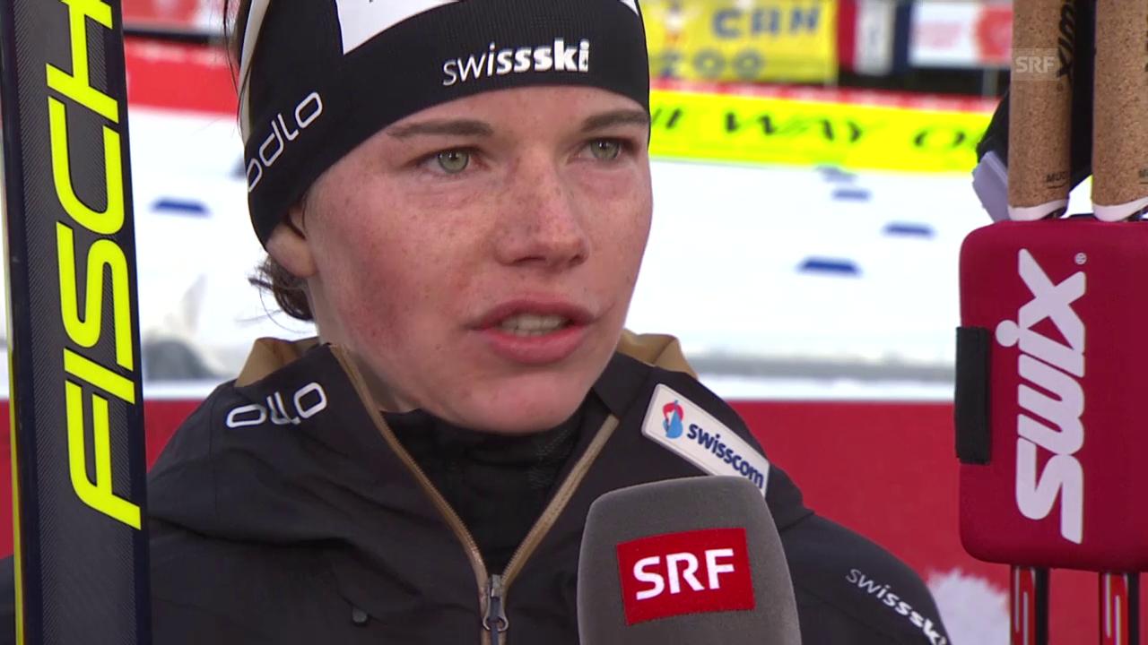 Ski Nordisch: WM in Falun, 30-km-Rennen der Frauen, Interview mit Nathalie von Siebenthal