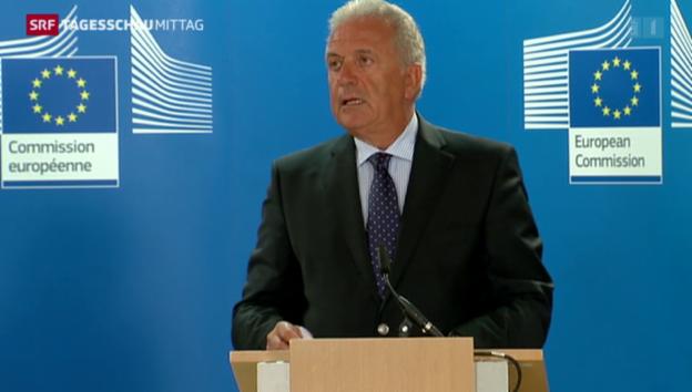 Video «EU-Kommissar für Migration lobt Griechenland» abspielen