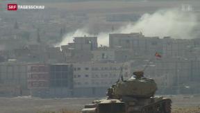Video «Syrische Kurden in Kobane weiter zurückgedrängt» abspielen
